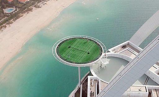 Tennis Court Burj Hotel Dubai Jaw Dropping Interiors