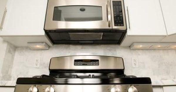 How To Cover Up An Old Kitchen Vent Hood Microwave Range Hood Oven Cleaning Microwave Above Stove
