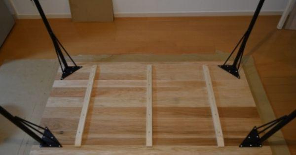 鉄脚ダイニングテーブルをdiy 工程編 後編 ダイニングテーブル ダイニング インテリア