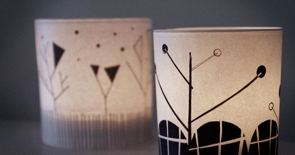 Free Printable DIY project for candles. The graphic look of these covers