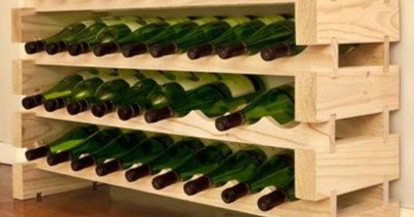 Modularack bois casier vin 36 bouteilles pin naturel for Casier a bouteille pour cuisine amenagee