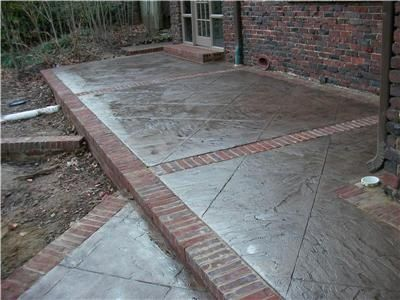 Concrete And Brick Patio Idea 2 Stamped Concrete Patio Patio