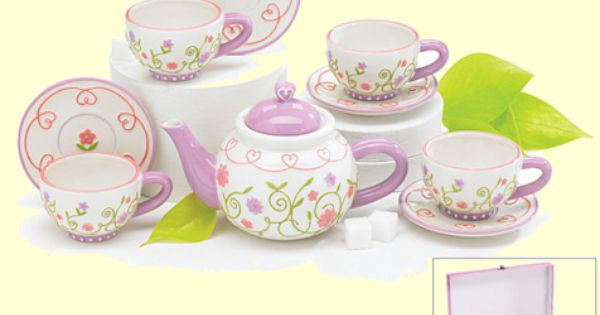 child girl 39 s tea set porcelain doll tea sets child 39 s collectible miniature tea set kids tea. Black Bedroom Furniture Sets. Home Design Ideas
