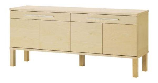 ikea bjursta sideboard birch veneer the doors have. Black Bedroom Furniture Sets. Home Design Ideas