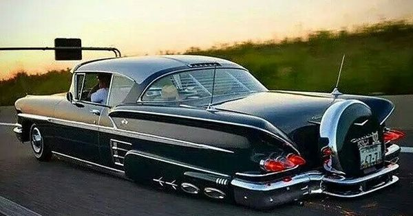 custom 1958 chevy impala with continental spare tire kit. Black Bedroom Furniture Sets. Home Design Ideas