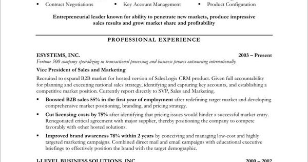 Marketing Resume Samples