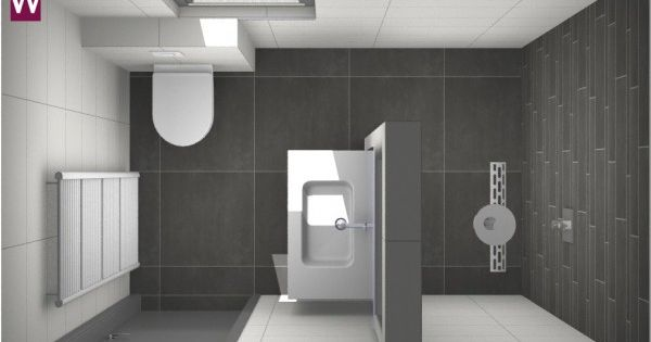 Kleine badkamer met vloertegels van 60 x 60 cm kleine badkamer pinterest met and van for Plan kleine badkamer