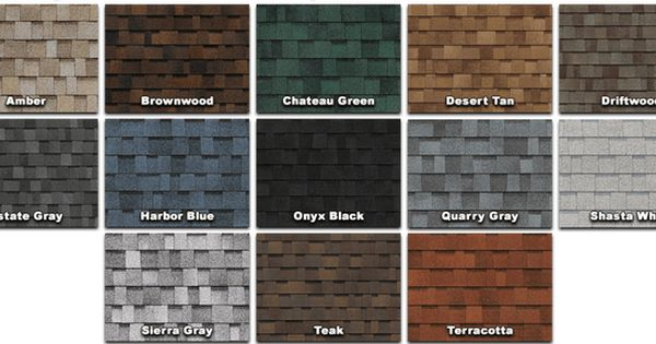 Owens Corning Shingle Colors Roof Shingle Colors Architectural Shingles Shingle Colors