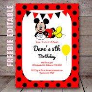 Free Editable Birthday Invitations Instant Download Mickey Mouse Invitation Mickey Invitations Mickey Mouse Birthday Invitations