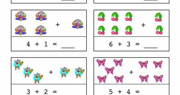 horizontal addition worksheets