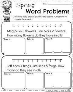 Spring Kindergarten Worksheets   First grade worksheets ...