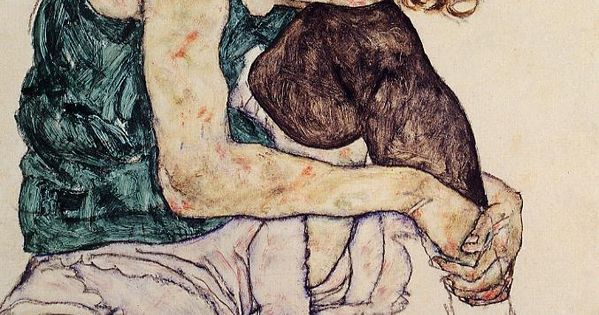 Egon Schiele. Seated woman with bent knee.1917. egonschiele art painting expressionism