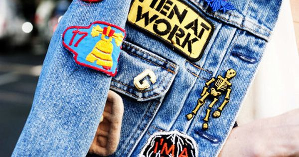 gepimpte jeansjacke mit patches spring summer pinterest. Black Bedroom Furniture Sets. Home Design Ideas