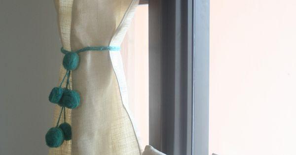 Cortina de arpillera cortina pinterest cortinas de - Cortinas de arpillera ...