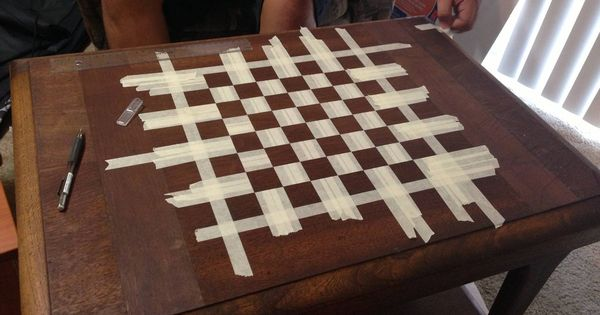 How To Make A Chessboard Out Of An Old Table Chess Board Chess Table Chess Board Table