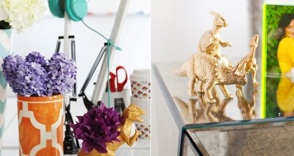 DIY Animals by decor8, spray paint plastic animals