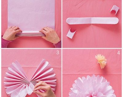 DIY tissue paper pom poms // www.thelovelythings.com wedding party diy paper pompom