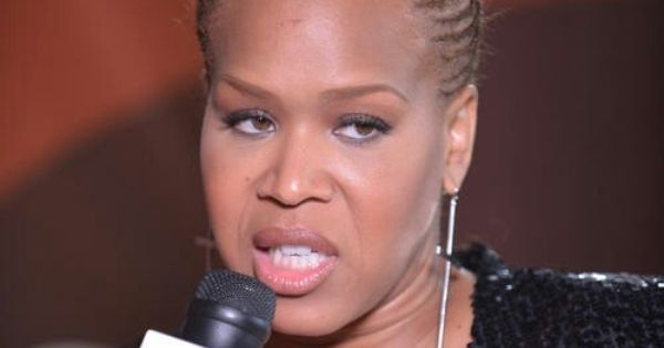Tina Campbell of Mary Mary braided Mohawk hairstyle. | Hairstyles