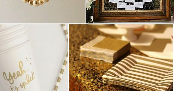 50 Gold Ideas For Weddings Parties Wedding Anniversary