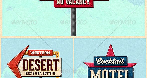 Vintage Motel Sign Pack Motel Sign Pack – Ps Template 50s ...