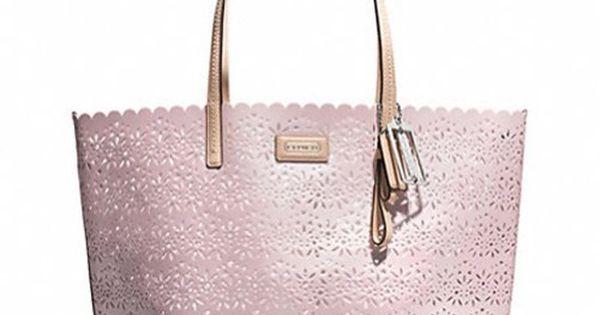Coach Metro Eyelet Leather F27544 Pink Tote Bag $209
