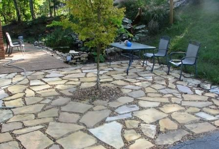 Savvy Housekeeping Different Types Of Flagstone Patios Patio Stones Gravel Patio Patio Landscaping
