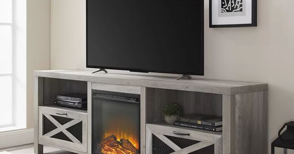 Tansey Tv Stand For Tvs Up To 78 Fireplace Tv Stand Electric