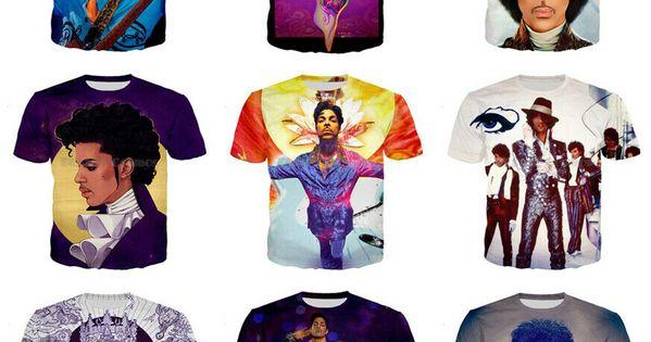 3D print Singer Prince Rogers Nelson Short Sleeve T-Shirt Men//Women Casual Top