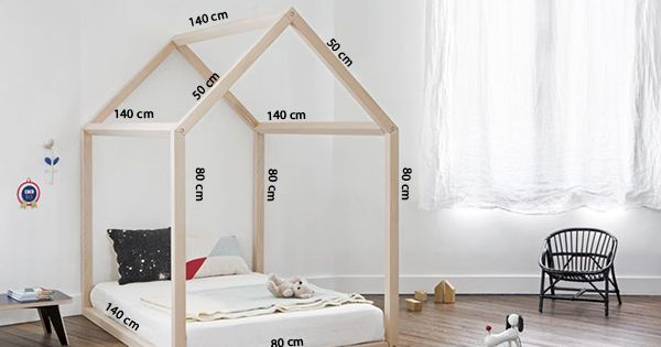 Diy kinderbed met houten huisje 39 10 and om - Modern kinderbed ...