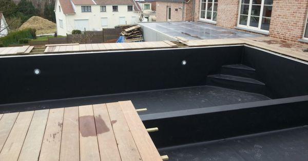 Zwarte zwemvijverfolie zwembaden jr pools pinterest - Zwarte voering voor zwembad ...