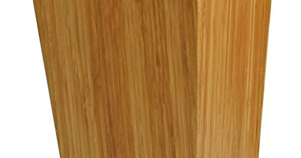 MSV 140639 Badezimmer Abfalleimer Bambus Lackiert Nitrocellulose 20