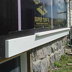 How To Build Traditional Water Table Trim With Cellular Pvc Trim Boards Exterior Siding Details Window Trim Exterior Pvc Trim Boards Exterior Trim
