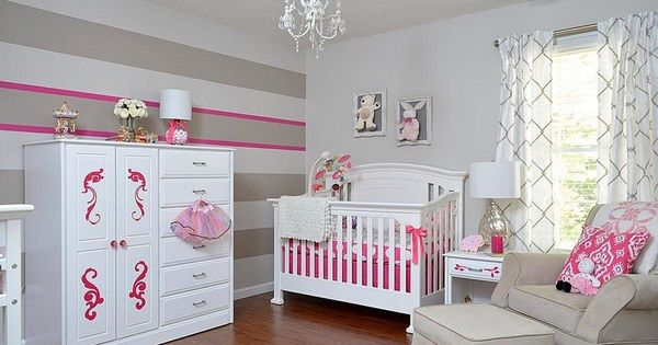 babyzimmer in grau wei und rosa einrichten und. Black Bedroom Furniture Sets. Home Design Ideas