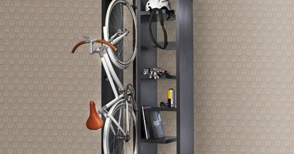 rangement int rieur pour v lo v lo support pinterest more bicycling and cycling ideas. Black Bedroom Furniture Sets. Home Design Ideas