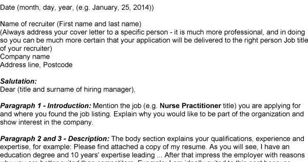 12 nurse practitioner cover letter