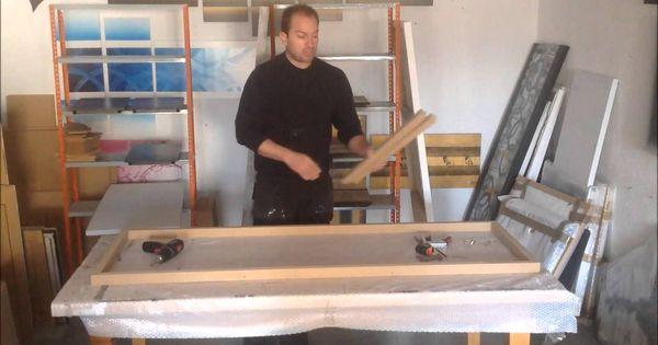 Como hacer un bastidor para lienzo pintura pinterest - Como enmarcar un lienzo ...