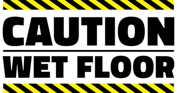 Free Caution Wet Floor Printable Sign Template Free