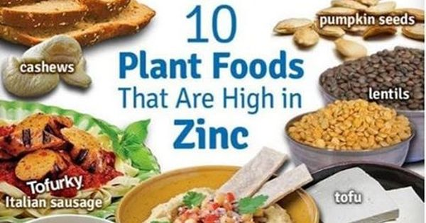 10 plant foods that are high in zinc #plantbased #diet #health | plant-based diet | Pinterest ...