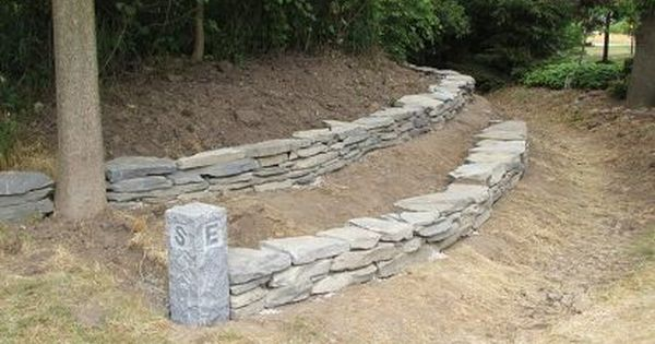 Build A Stacked Stone Garden Wall, How To Build A Stacked Stone Garden Border