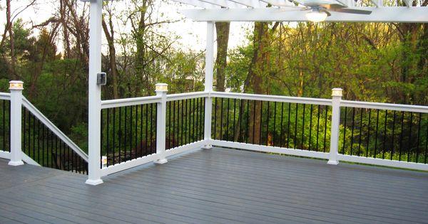 TimberTech Evolutions Slate deck with White vinyl railing ...