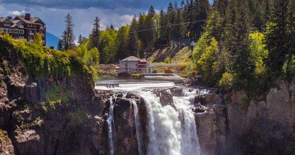 Snoqualmie Falls, on the Snoqualmie River between Snoqualmie, Washington and Fall City,