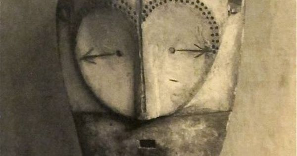 Fang Mask, Central Gabon (1920s) Photographed By Paris