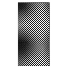 Freedom Common 1 4 In X 48 In X 8 Ft Actual 0 19 In X 47 53 In X 7 92 Ft Black Vinyl Privacy Lattice Decorative Screen Panels Plastic Lattice Black Vinyl