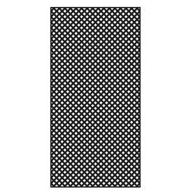 Freedom Common 1 4 In X 48 In X 8 Ft Actual 0 19 In X 47 53 In X 7 92 Ft Black Vinyl Privacy Lattice Decorative Screen Panels Plastic Lattice Black Vinyl