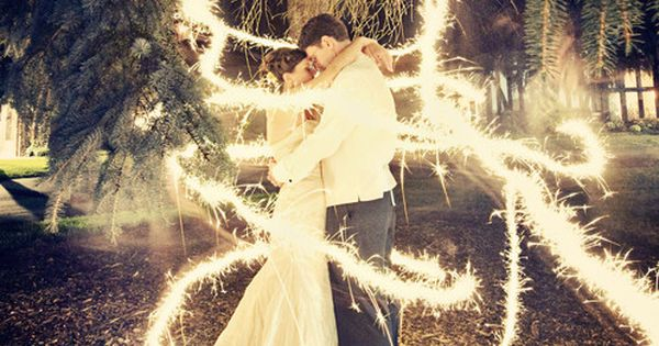 It's a long exposure shot with sparklers :) All they had to