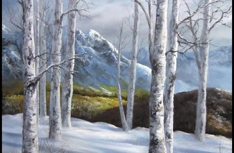 Paint with kevin hill wildflower mountains youtube for Painting a forest in acrylics