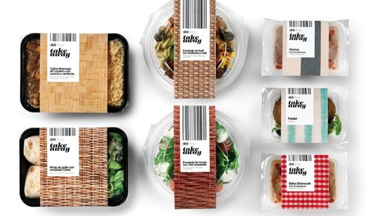 "Delishop Take Away packaging designed by Enric Aguilera. ""The new line of"