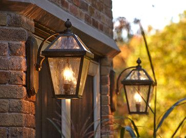 English Tudor Estate With Traditional Style Exterior Lights