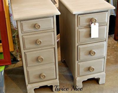 Twice Nice Repurposed Desk Drawers Into Side Tables Twice Nice Furniture Restyles Pinterest