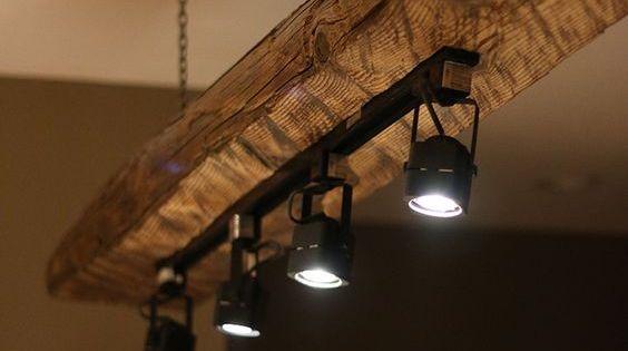 Mountain haus wood beam light fixture haus beams and for Diy wood beam light fixture